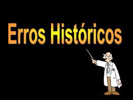Errores históricos - IME-USP