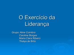 8 - O Exercício da Liderança