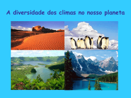 A diversidade dos climas no nosso planeta