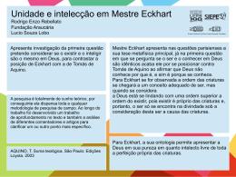 Unidade e intelecção em Mestre Eckhart Rodrigo Enzo