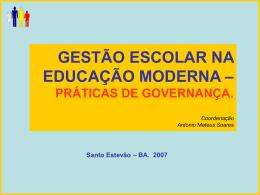 Curso de Gestão Escolar – Santo Estevão.