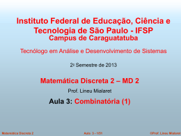 Aula 3 - Lineu FS Mialaret