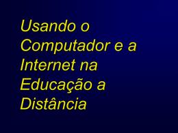 Tecnologias em Educação a Distância