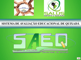 Slide - Secretaria Municipal da Educação de Quixadá