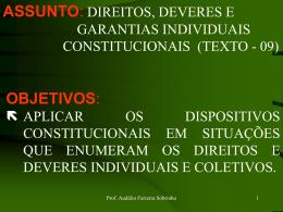 a. DIREITOS E GARANTIAS CONSTITUCIONAIS.