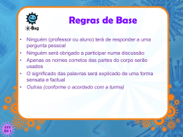 Regras de Base - e-Bug