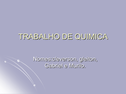 TRABALHO DE QUIMICA Murilo