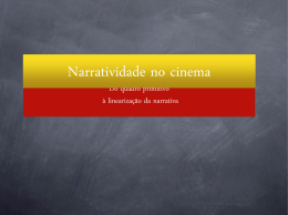 Narratividade no cinema