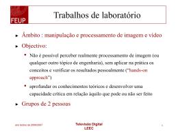 Slides da aula de apresentação dos trabalhos de laboratorio