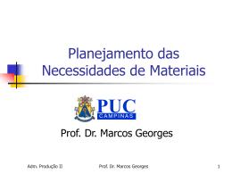 Planejamento dos recursos de manufatura (MRP II)