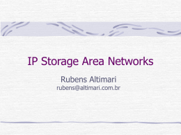 seminário IP Area Storage Networks