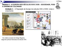 Módulo 4 - A EUROPA NOS SÉCULOS XVII E XVIII