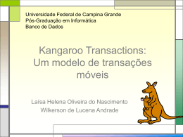 KangorooTransactions - Universidade Federal de Campina