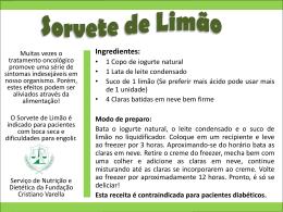 Sorvete de Limão - Fundação Cristiano Varella