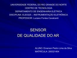 Sensor - DEE - Departamento de Engenharia Elétrica