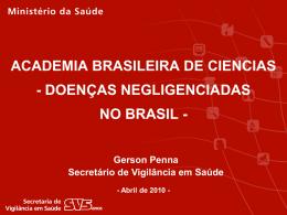 Situação de Saúde no Brasil - Academia Brasileira de Ciências