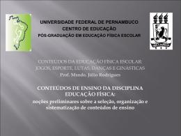 Apresentação (2a aula) - Universidade Federal de Pernambuco