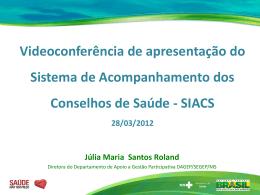 Apresentação Acórdão - Conselho Nacional de Saúde
