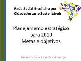 Planejamento Rede 2010