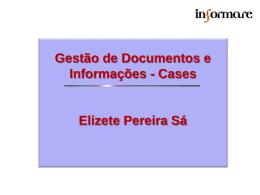 Gestão de Documentos e Informações