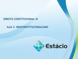 DIREITO CONSTITUCIONAL III Aula 3