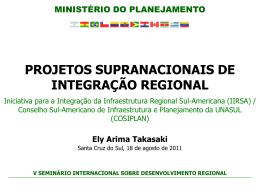 Ely Arima Takasaki - IIRSA - Brasília