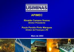 Apresentação USIMINAS - APIMEC