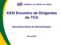 Dia 9 - Segedam - Tribunal de Contas da União