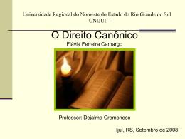 Direito Canônico - Capital Social Sul