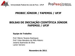 Apresentação - Universidade Federal de Juiz de Fora