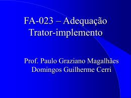 FA-905 - Projeto de Máquinas de preparo de solo