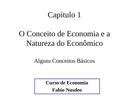 Conceito de Economia e Natureza do Econômico