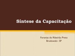 Síntese da Capacitação - Arquidiocese Ribeirão Preto