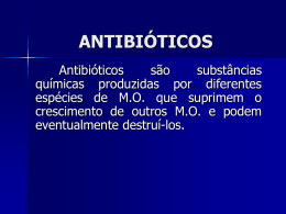 ANTIBIÓTICOS - Universidade Castelo Branco
