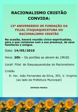 13º aniversário de fundação - Filial