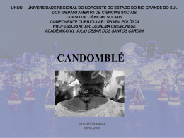 Candomblé ppt - Capital Social Sul