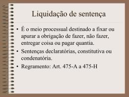 4. Liquidação de sentença