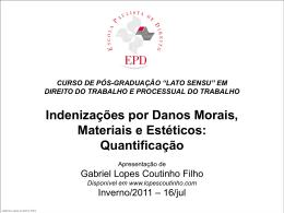 dano moral - Gabriel Lopes Coutinho Filho