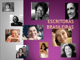 ESCRITORAS BRASILEIRAS - Secretaria de Educação