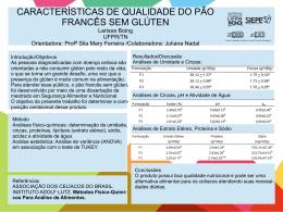 CARACTERÍSTICAS DE QUALIDADE DO PÃO FRANCÊS