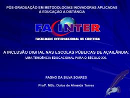 UMA TENDÊNCIA EDUCACIONAL PARA O SÉCULO XXI.