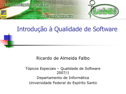 Aula1 - Informática - Universidade Federal do Espírito Santo