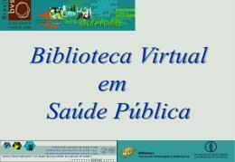 apresentação - I Reunião de Coordenação da Biblioteca Virtual em