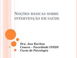 INTERVENÇÃO PSICOLÓGICA EM CENTROS DE SAÚDE Isabel