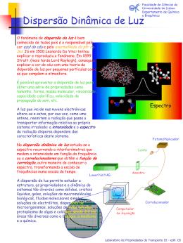 Dispersão Dinâmica de Luz