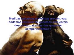 Medidas paliativas e medidas preventivas: podemos entender as