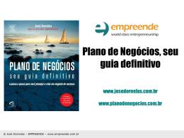 Plano de Negócios - Empreendedorismo – Prof. José Dornelas