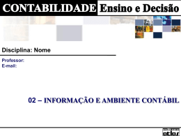 CAP 02 - Informação e Ambiente