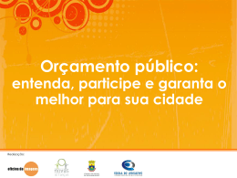 Slide 1 - Câmara Municipal de Belo Horizonte