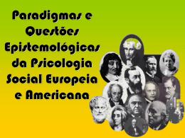 Psicologia Europeia e Americana